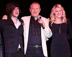 Glen Campbell 1936 - 2017. 08 Aug 2017 Pictured: Glen Campbell,Cal Campbell,Ashley Campbell. Photo credit: MEGA TheMegaAgency.com +1 888 505 6342