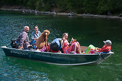 Britten, Kristen, Cedra, Olivia and Curran, Ross Lake National Recreation Area, North Cascades National Park, US