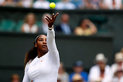 Serena Williams on day twelve of the Wimbledon Championships at the All England Lawn Tennis and Croquet Club, Wimbledon.
