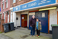 Wycombe fans arrive at the Oak Stand entrance of the Kenilworth Road stadium before the EFL Sky Bet League 1 match between Luton Town and Wycombe Wanderers at Kenilworth Road, Luton, England on 9 February 2019.