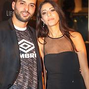 NLD/Amsterdam/20151110 - Life After Football Award 2015, Soufian Asafiati en partner