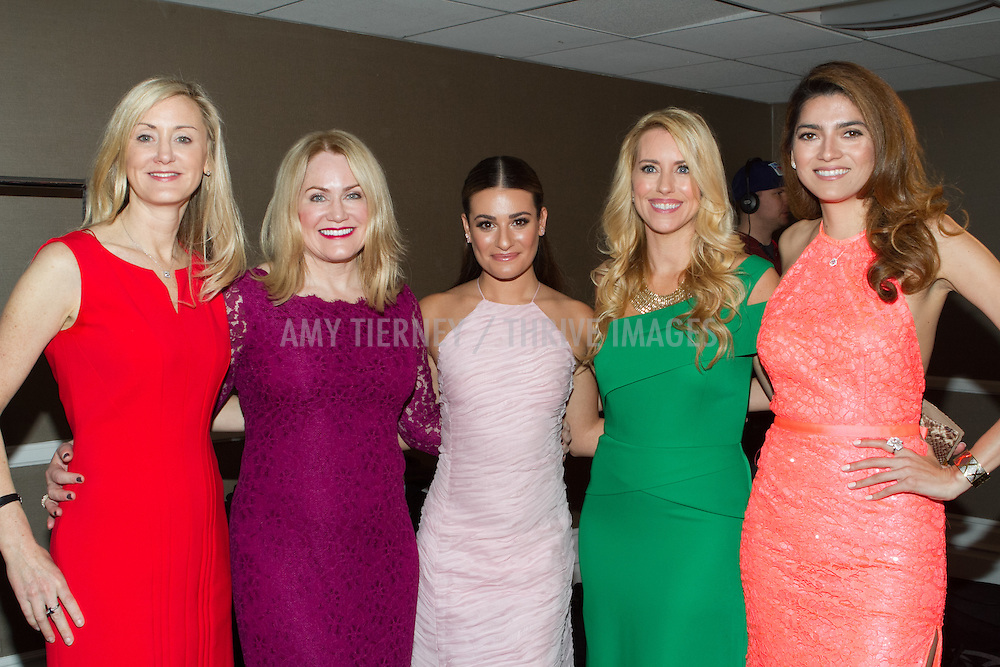 guest, Tara Crimin, Lea Michele, Melanie Barr Levey, and Blanca Blanco