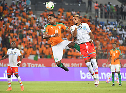 January 20, 2017 - GABON - S. Deli - Cote Ivoire  vs J. Bolingi - Congo DR (Credit Image: © Panoramic via ZUMA Press)