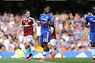 Michy Batshuayi of Chelsea (23) reacts after missing a chance to score. Premier league match, Chelsea v Burnley at Stamford Bridge in London on Saturday 27th August 2016.<br /> pic by John Patrick Fletcher, Andrew Orchard sports photography.