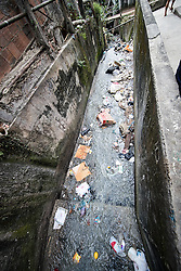 02.08.2016, Favela Rocinha, Rio de Janeiro, BRA, Rio 2016, Olympische Sommerspiele, Vorberichte, im Bild Abwasser // sewage during preparation for the Rio 2016 Olympic Summer Games at the Favela Rocinha in Rio de Janeiro, Brazil on 2016/08/02. EXPA Pictures © 2016, PhotoCredit: EXPA/ Johann Groder