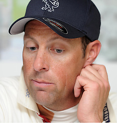 Dejection for Somerset's Marcus Trescothick- Photo mandatory by-line: Harry Trump/JMP - Mobile: 07966 386802 - 29/04/15 - SPORT - CRICKET - LVCC Division One - County Championship - Somerset v Middlesex - Day 4 - The County Ground, Taunton, England.