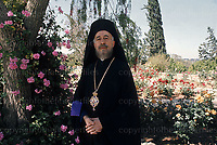 Archbishop Makarios at the Presidential Palace in Nicosia, Cyprus in May1974. He was the first President of Cyprus as well as a politician and a Greek Cypriot clergyman. Photograh by Terry Fincher