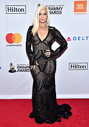 Bebe Rexha attends the Clive Davis and Recording Academy Pre-GRAMMY Gala and GRAMMY Salute to Industry Icons Honoring Jay-Z on January 27, 2018 in New York City.. Photo by Lionel Hahn/ABACAPRESS.COM