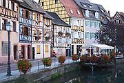 restaurant terrace little venice q de la poissonnerie colmar alsace france