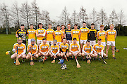 Leinster Minor Hurling - Shield Final at St Feckins GFC, 2nd April 2016<br /> Antrim vs Kildare<br /> Antrim Team, Back Row, L-R, Paddy Carlin, Shane O`Conner, Leo Morgan, Emmett Laverty, Donal McKernan, David Kilgore, Caolan McGivern, Shane McGill, Colm McLarnon, Edward O`Conner, Paul McGill, Harry Kilgore.<br /> Front Row, L-R, Conor Boyd, Tiarnan Murphy, Conor Carson (C), Shea Shannon, Geoffrey Og Laverty, Daniel Black, Cathal McDonnell, Edward McQuillan, <br /> Photo: David Mullen /www.cyberimages.net / 2016