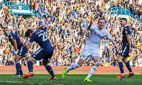 Leeds United's Luke Ayling celebrates after scoring his side's second goal <br /> <br /> Photographer Alex Dodd/CameraSport<br /> <br /> The EFL Sky Bet Championship - Leeds United v Millwall - Saturday 30th March 2019 - Elland Road - Leeds<br /> <br /> World Copyright © 2019 CameraSport. All rights reserved. 43 Linden Ave. Countesthorpe. Leicester. England. LE8 5PG - Tel: +44 (0) 116 277 4147 - admin@camerasport.com - www.camerasport.com