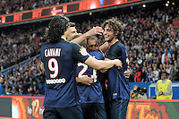 joie PSG / Adrien Rabiot / Edinson Cavani - 23.05.2015 - PSG / Reims - 38eme journee de Ligue 1<br /> Photo : Andre Ferreira / Icon Sport