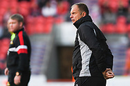 Steve Lovell of Gillingham (Manager) looks on during the EFL Sky Bet League 1 match between Doncaster Rovers and Gillingham at the Keepmoat Stadium, Doncaster, England on 20 October 2018.