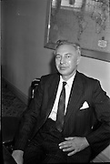27/07/1962<br /> 07/27/1962<br /> 27 July 1962<br /> Aer Lingus- Irish International Airlines AGM, press conference at General Manager's Office, O'Connell Street, Dublin. Picture shows Mr Patrick Lynch, Chairman of Board of Directors, Aer Lingus Irish International Airlines.