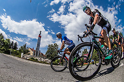 Robert Jenko (SLO) of Slovenija National Team and Lukas Poestlberger (AUT) of Bora - Hansgrohe during Stage 3 of 24th Tour of Slovenia 2017 / Tour de Slovenie from Celje to Rogla (167,7 km) cycling race on June 16, 2017 in Slovenia. Photo by Vid Ponikvar / Sportida