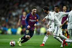 March 2, 2019 - Madrid, MADRID, SPAIN - Lionel (Leo) Messi of FC Barcelona during the spanish league, La Liga, football match played between Real Madrid and FC Barcelona at Santiago Bernabeu Stadium in Madrid, Spain, on March 02, 2019. (Credit Image: © AFP7 via ZUMA Wire)