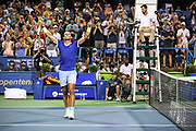Rafael Nadal at the 2021 Citi Open. Photo by Kyle Gustafson