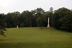 July 2007: South Carolina Monument. Monuments of Valor at the Chickamauga National Park in Georgia. There are hundreds of memorials and markers throughout the park.  They tell the story of the battle, show positioning, and honor those who were engaged in the battle. Attractions near Chattanooga Tennessee. Point Park, National Park Service - Lookout Mountain, TN.