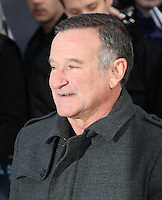 Oscar-winning US actor and comedian Robin Williams aged 63 has been found dead in a suspected suicide 12 August 2014. The star of Good Will Hunting, Good Morning, Vietnam and Mrs Doubtfire was found at his home in northern California. These images were taken at the Happy Feet Two European Premiere, Leicester Square, London UK on 20 November 2011. Photo by Richard Goldschmidt