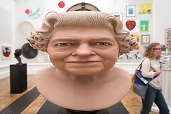 "© Licensed to London News Pictures. 05/06/2018. LONDON, UK. ""The Queen"" by John Humphreys at a preview of the 250th Summer Exhibition at the Royal Academy of Arts in Piccadilly, which has been co-ordinated by Grayson Perry RA this year.  Running concurrently, is The Great Spectacle, featuring highlights from the past 250 years.  Both shows run 12 June to 19 August 2018.  Photo credit: Stephen Chung/LNP"