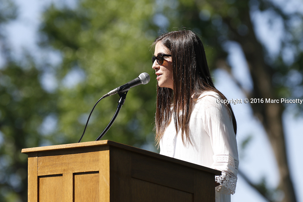 SHOT 6/2/16 9:06:16 AM - Colorado Academy Class of 2016 Commencement ceremonies at the Denver, Co. private school. The school graduated 88 seniors this year and the event capped a week filled with awards, tributes, and celebrations for the outgoing senior class. (Photo by Marc Piscotty / © 2016)