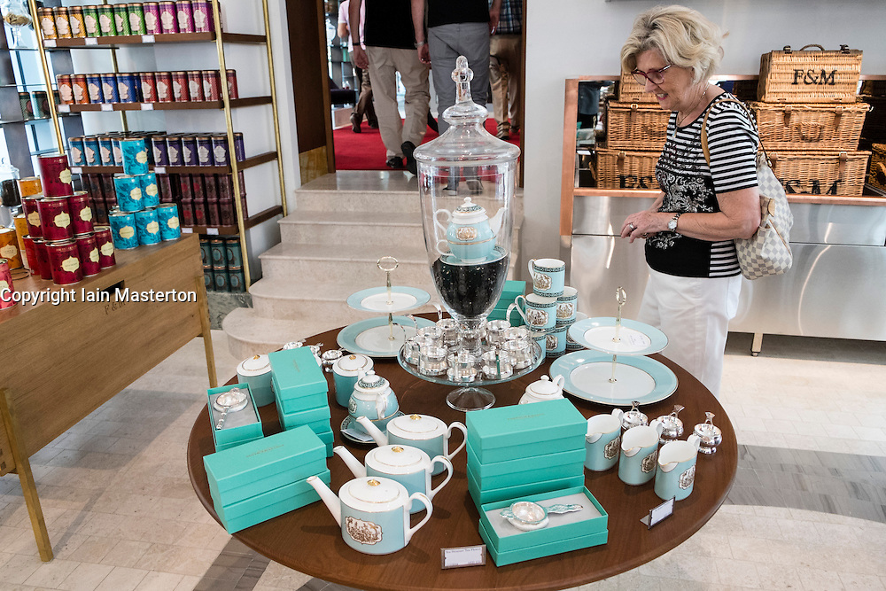 Dubai, United Arab Emirates, 21 March 2014; Luxury British food store Fortnum and Mason open first overseas outlet in pavilion next to Dubai Mall in Dubai United Arab Emirates