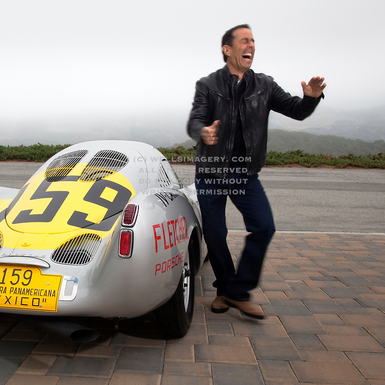Jerry Seinfeld and Porsche 550-003, Monterey, California, America west coast