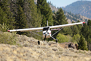 Maule N1044L landing at back country airstrip in Idaho's Frank Church wilderness area