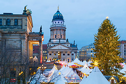 Traditional Christmas Market at Gendarmenmarkt in Mitte, Berlin, Germany.