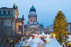 Traditional Christmas Market at Gendarmenmarkt in Mitte, Berlin, Germany.