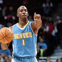 08 November 2010: Denver Nuggets' point guard #1 Chauncey Billups calls a play during the Chicago Bulls 94-92 victory over the Denver Nuggets at the United Center, in Chicago, Illinois, USA.