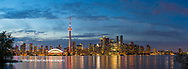 60912-00309 Toronto skyline at dusk from Toronto Island Park Toronto, Ontario Canada