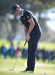 January 26, 2017 - San Diego, Calif, USA - Rickie Fowler putts on the 10th green during the first day of the Farmers Insurance Open golf tournament at Torrey Pines in San Diego, Calif. on Thursday, January 26, 2017. (Photo by Kevin Sullivan, Orange County Register/SCNG) (Credit Image: © Kevin Sullivan/The Orange County Register via ZUMA Wire)