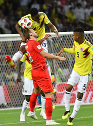 England's Harry Kane during the 1/8 final game between Colombia and England at the 2018 FIFA World Cup in Moscow, Russia on July 3, 2018. Photo by Lionel Hahn/ABACAPRESS.COM