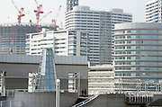 new office and residence district being build near Landmark Tower in Yokohama Japan