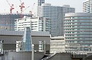 new office and residence district being build near Landmark Tower in Yokohama Japan
