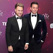TV-Moderator Sven Epiney (re.) und Michael Graber anlässlich der Glory-Verleihung 2018 am 12. Januar 2019 im Aura Club Zürich.