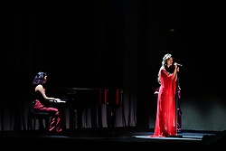 Olivia Rodrigo (right) performs during the Brit Awards 2021 at the O2 Arena, London. Picture date: Tuesday May 11, 2021.