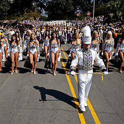 October 22, 2011; Baton Rouge, LA, USA; The LSU Tigers band performs prior to kickoff of a game  against the Auburn Tigers at Tiger Stadium.  Mandatory Credit: Derick E. Hingle-US PRESSWIRE / © Derick E. Hingle 2011
