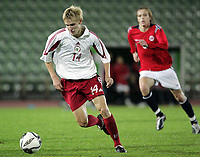 Fotball<br /> Kvalifisering UEFA EM-kvalifisering G18 / U19<br /> Norge v Latvia 2-1<br /> Bislett Stadion<br /> Foto: Morten Olsen, Digitalsport<br /> <br /> Daniils Turkovs - Latvia