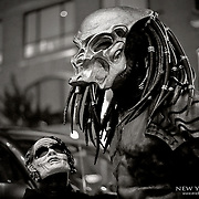 A well done and accurate costume and mask portraying the Predator.