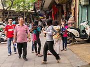 31 MARCH 2012 - HANOI, VIETNAM:   A street scene in the Old Quarter of Hanoi, Vietnam.   PHOTO BY JACK KURTZ