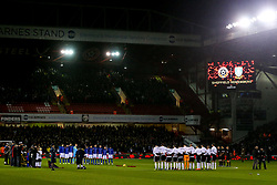 A minutes silence is held between Sheffield Wednesday and Sheffield United in remembrance of Armistice Day - Mandatory by-line: Robbie Stephenson/JMP - 09/11/2018 - FOOTBALL - Bramall Lane - Sheffield, England - Sheffield United v Sheffield Wednesday - Sky Bet Championship