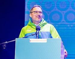 12.02.2020, Suedtirol Arena, Antholz, ITA, IBU Weltmeisterschaften Biathlon, Eröffnungsfeier, im Bild Arno Kompatscher (Landeshauptmann von Südtirol) // Arno Kompatscher Govenor of South Tyrol during the opening ceremony for the IBU Biathlon World Championships 2020. Suedtirol Arena in Antholz, Italy on 2020/02/12. EXPA Pictures © 2020, PhotoCredit: EXPA/ Stefan Adelsberger