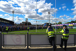 May 13, 2018 - Dublin, Ireland - Members of Gardai watch the homecoming ceremony at Energia Park, Donnybrook, following their victory in the European Champions Cup Final in Bilbao, Spain..On Sunday, May 13, 2018, in Donnybrook, Dublin, Ireland. (Credit Image: © Artur Widak/NurPhoto via ZUMA Press)
