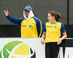 adidas Grand Prix Diamond League professional track & field meet: womens pole vault, Fabiana Murer with coach