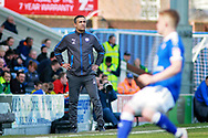 Chesterfield manager Jack Lester  during the EFL Sky Bet League 2 match between Chesterfield and Notts County at the Proact stadium, Chesterfield, England on 25 March 2018. Picture by Nigel Cole.