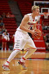 05 November 2016:   Isaac Gassman(0) during an NCAA  mens basketball game where the Quincy Hawks lost to the Illinois State Redbirds in an exhibition game at Redbird Arena, Normal IL