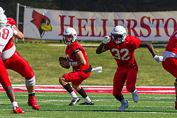 NORMAL, IL - August 14: Tommy Rittenhouse, Wenkers Wright during a college football pre-season scrimmage of the  ISU (Illinois State University) Redbirds August 14 2021 at Hancock Stadium in Normal, IL. (Photo by Alan Look)