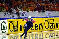 Skøyter - EM 2003 - Heerenveen Nederland<br /> 04.01.2003<br /> Annette Bjelkevik fra Norge<br /> Foto: Ronald Hoogendoorn, Digitalsport